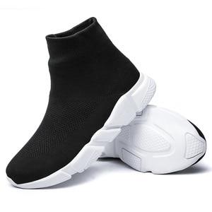 Image 4 - גרבי נעלי ספורט ריצה נעלי גברים עבור מותג חדר כושר ספורט מאמני גדול גודל Zapatillas Hombre Deportiva Chaussure Homme 46 47