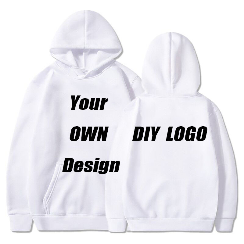 BTFCL Customized Men Women Customized Hoodies Print Like Photo Or Logo Text DIY Your OWN Design White Cotton Harajuku Sweatshirt