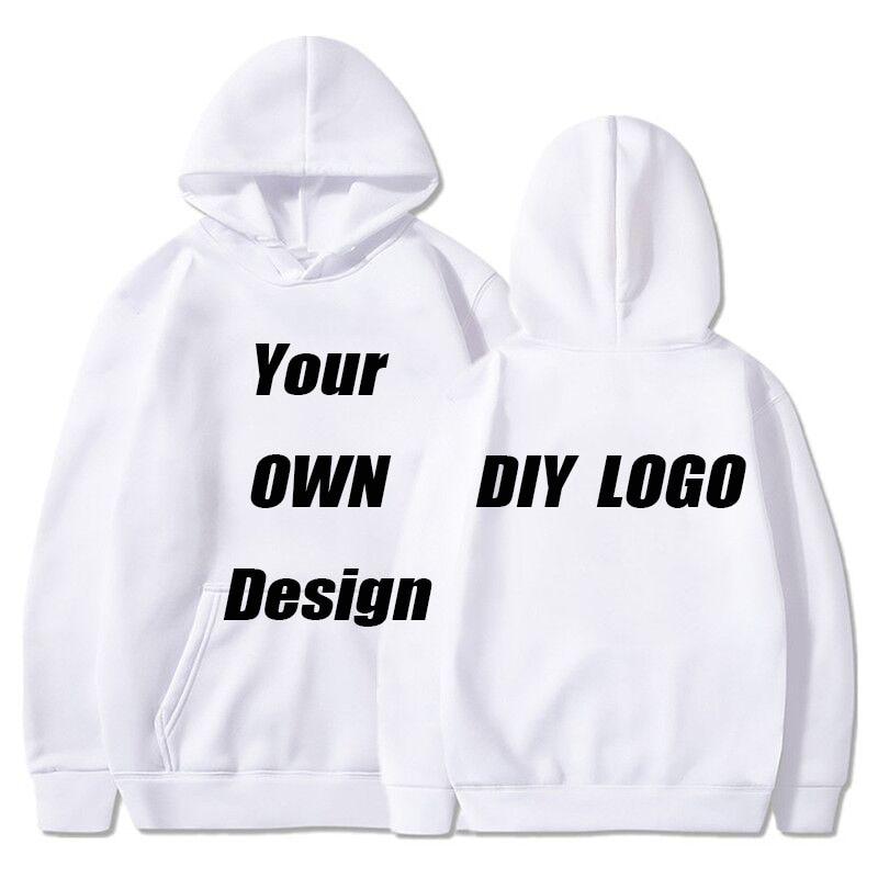 BTFCL Customized Men Women Customized Hoodies Print Like Photo Or Logo Text DIY Your OWN Design White Cotton Harajuku Sweatshirt