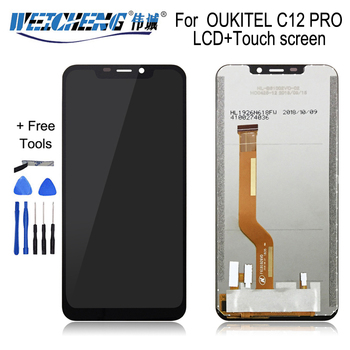 Перейти на Алиэкспресс и купить Для OUKITEL C12 PRO ЖК-дисплей + сенсорный экран 100% оригинальный протестированный ЖК-дигитайзер стеклянная панель Замена для OUKITEL C12 PRO