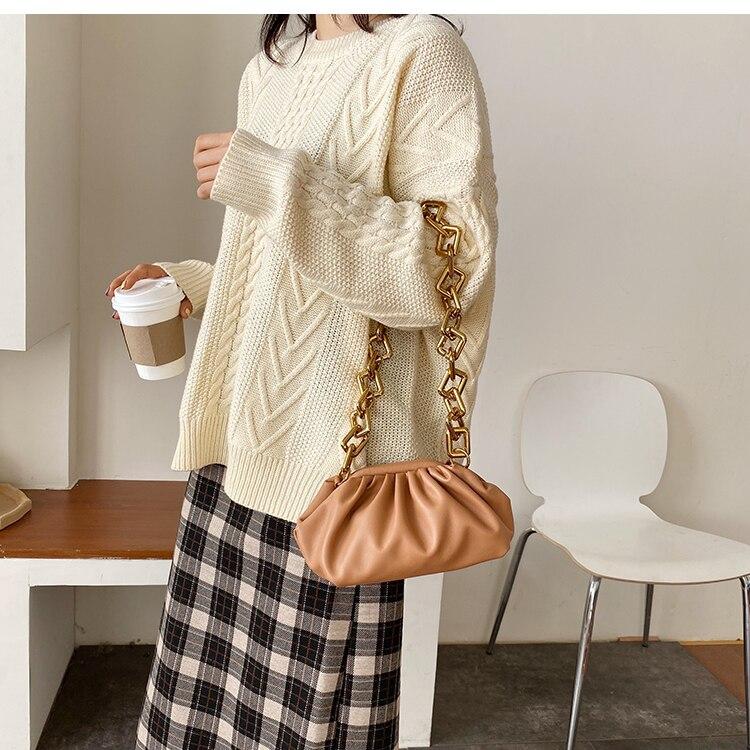 Retro bolsa feminina simples bolinhos saco do
