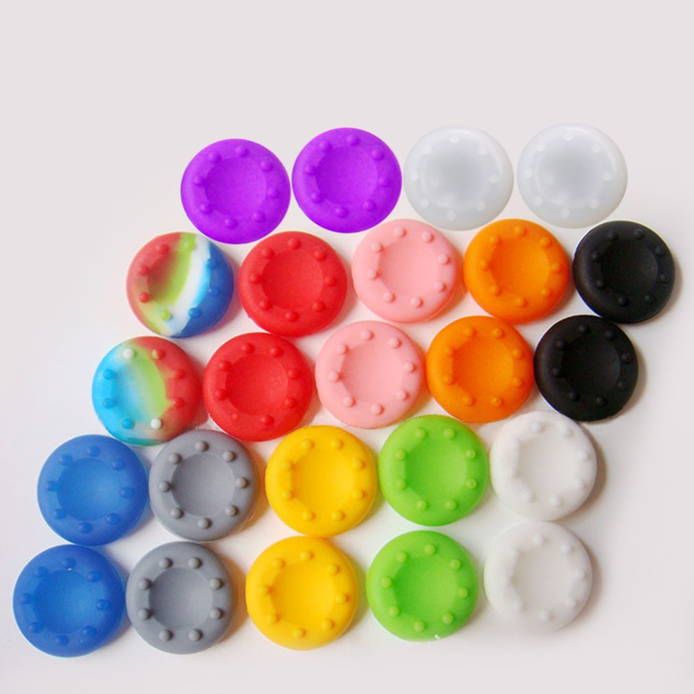 4PCS Thumb Stick Grips Caps For PS4 Pro Slim Silicone Analog Thumbstick Grips Cover For Xbox PS3 PS4 Accessories