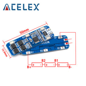 Image 2 - 3S 10A 12V Lithium Battery Charger Protection Board Module for 3pcs 18650 Li ion Battery Cell Charging BMS 11.1V 12.6V