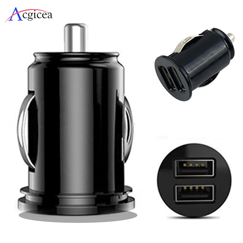 Car Charger For Samsung S10 Xaomi Plus Fast Charging Dual USB Chargers For IPhone XS Max X 7 8 Plus IPad Mobile Phone Charger