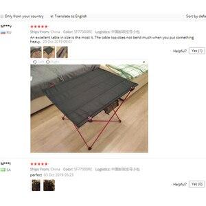 Image 5 - 屋外家具のテーブルレッド折りたたみテーブルライト色重量超軽量デスク釣りテーブル現代の折りたたみ家具