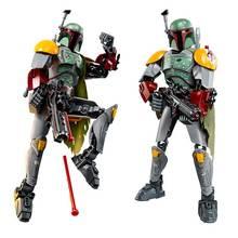 Star Wars Buildable Figure Boba Fett Stormtrooper Darth Vader Kylo Ren Chewbacca General Grievou Action Figure Kids Boy Toy Gift