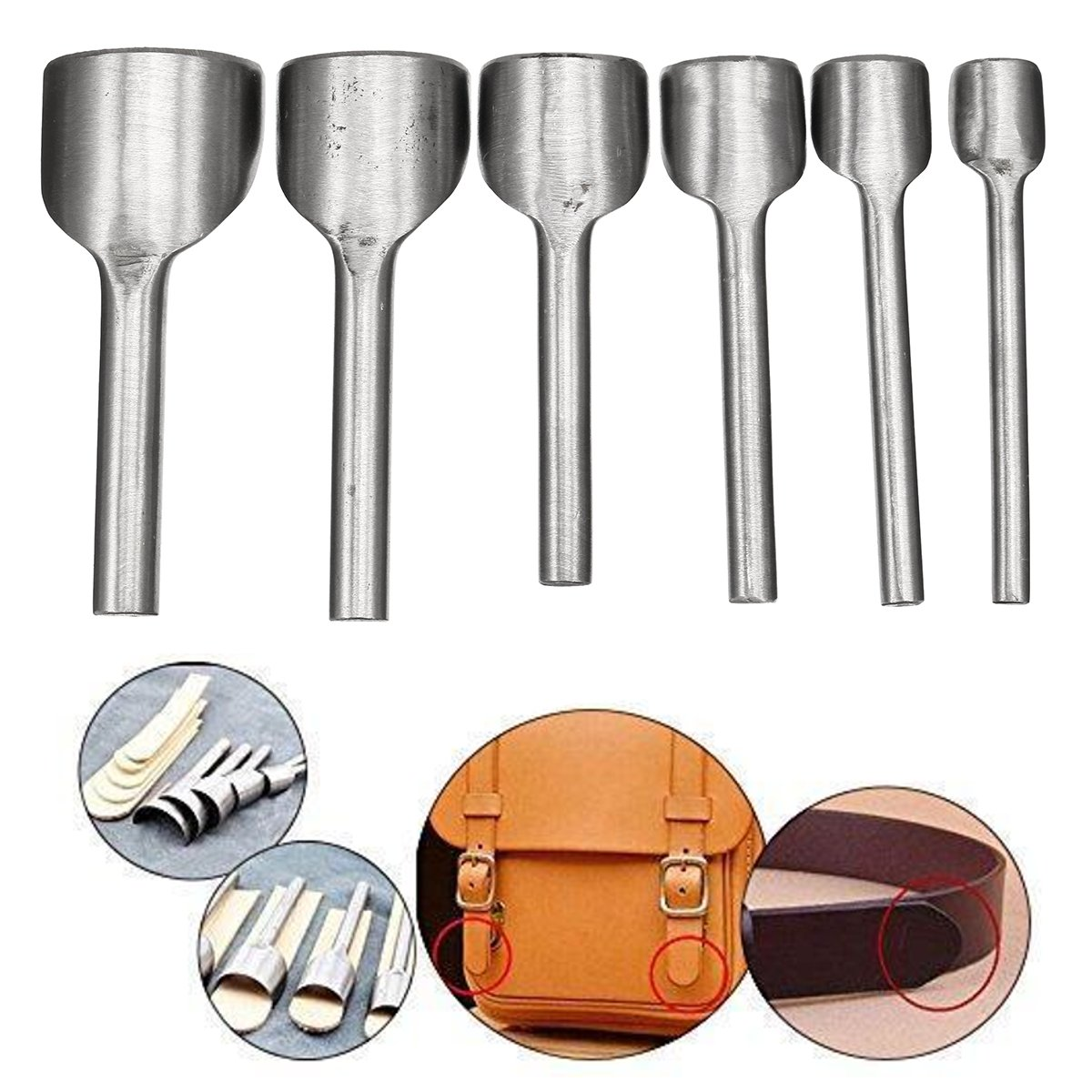 100mm High Carbon Steel 1/2 Semicircle Leather Craft Punch Cutter Tools Belt Wallet Punch Tool for DIY Handicraft Leather Craft|Hand Tool Sets| |  - title=