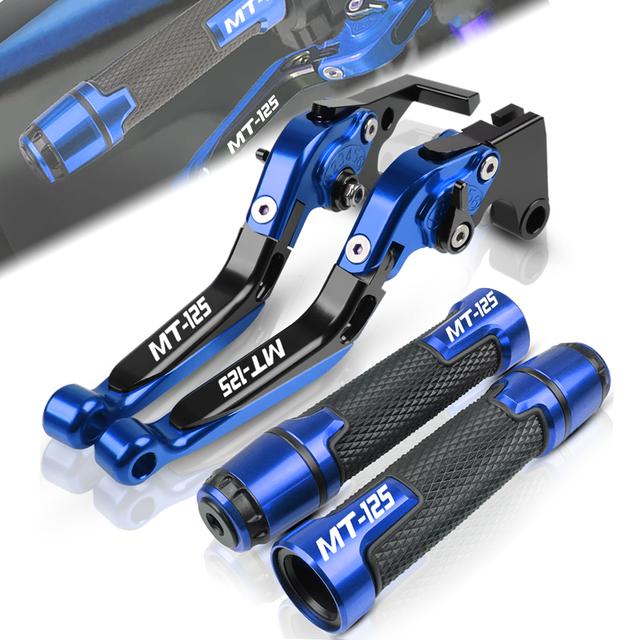 For YAMAHA MT125 MT 125 MT-125 2015-2017 2016 Motorcycle Adjustable Folding Brake Clutch Lever Handle Grips End