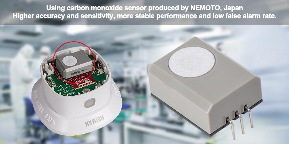 Heiman zigbee co sensor detector de monóxido