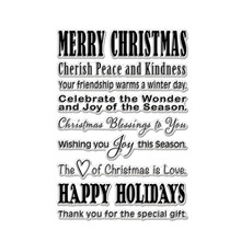 Merry Christmas Phrases Clear Stamps Happy Holidays For DIY Card Making Kids Transparent Silicone Stamp New 2019