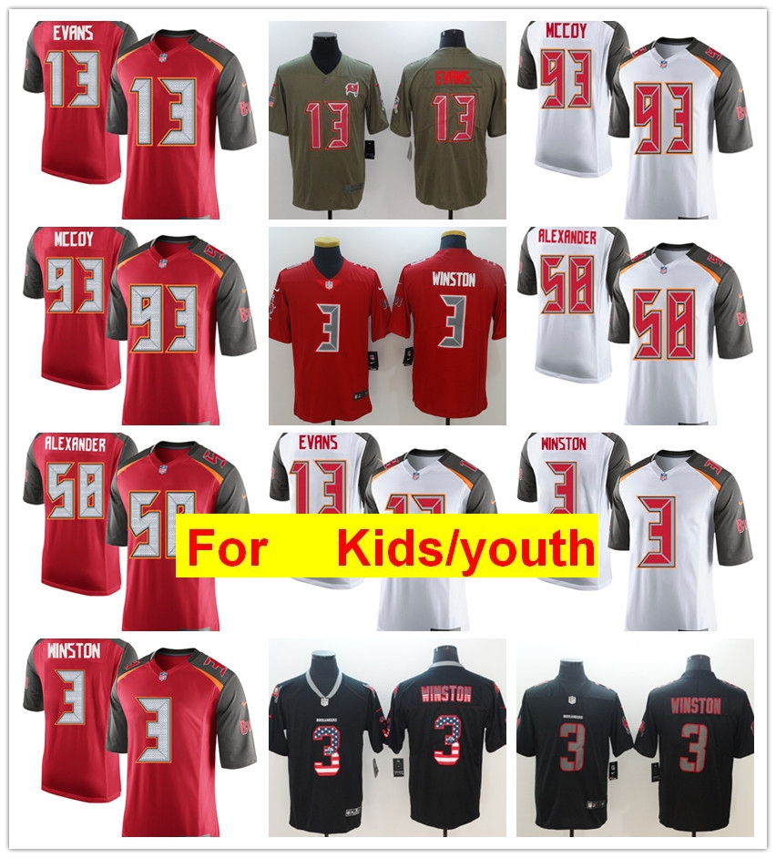new product 74eef a2a84 US $29.66 |youth kids s Tampa Bay Mike Evans Kwon Alexander Jameis Winston  Gerald McCoy football game jerseys on Aliexpress.com | Alibaba Group