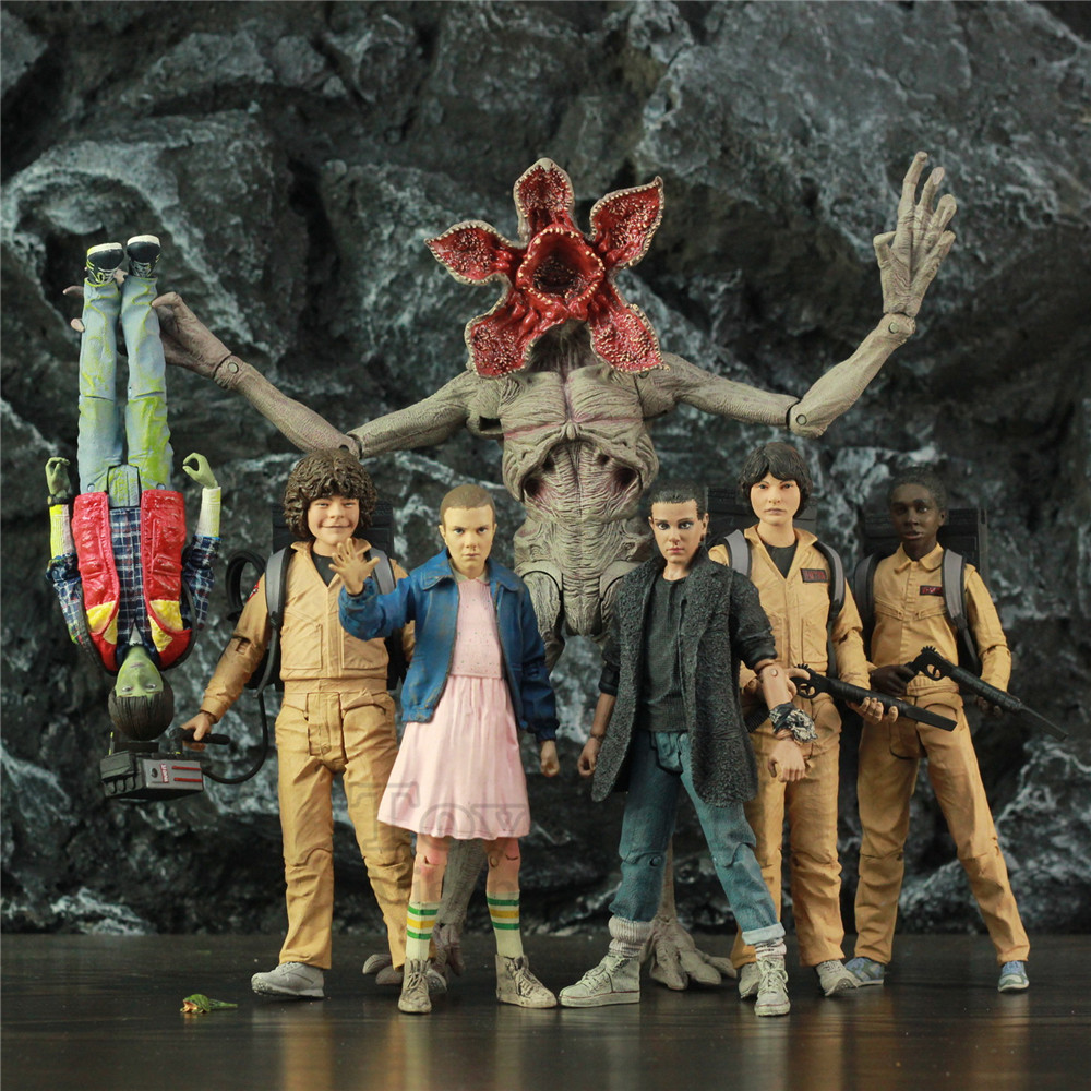 """Stranger Things Eleven WILL LUCAS MIKE DUSTIN 7"""" Action Figure From Original Mcfarlane Toys TV Netflix Series Doll Collectible"""