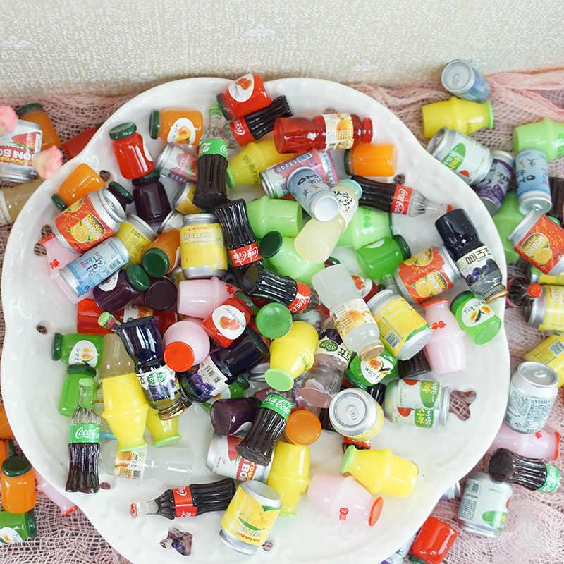 Nuovo 1/5pcs Mini Bottiglia della Bevanda Pendenti e Ciondoli per Slime di Riempimento FAI DA TE Ornamento Decorazione Del Telefono Della Resina Pendenti e Ciondoli Lizun Argilla slime Forniture Giocattoli