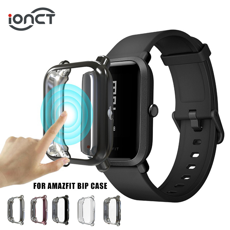 IONCT Full Cover TPU Case For Xiaomi Amazfit Bip Case Watchband Huami Amazfit Bip Lite Cases Screen Protector