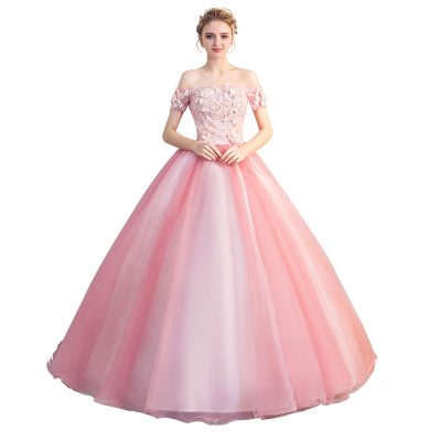 Gryffon Quinceanera Dress Off The Shoulder Party Prom Ball Gown Sweet Floral Print Host Solo Gowns Quinceanera Dresses