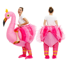 Flamingo Inflatable Costume Mascot Lovely Anime costumes For Christmas Carnaval Halloween costume for women Fancy Party Dress