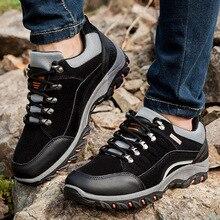 Men Waterproof Hiking Shoes Travel Autumn Outdoor Non-slip Wear Sneakers Lace Up Trekking Climbing Sports Male