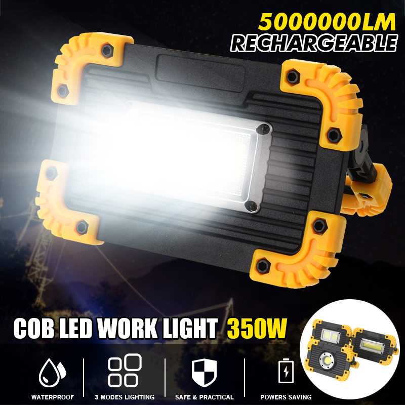 SMUXI 350W Waterproof COB LED Floodlight USB Charging 5-8 Hours Outdoor Spot Work Lamp Camping Portable Led Searchlight