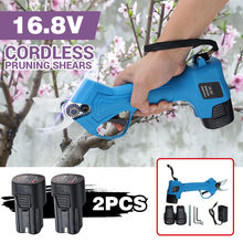 Tesoura para poda elétrica recarregável, 2x2000mah, para poda de jardim, secateur, ferramenta de corte w/ 2x bateria