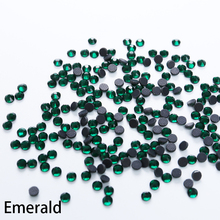 Large Package Emerald Glass DMC Hot Fix Rhinestones Flatback Crystal Hotfix Iron On Stones For Wedding Dress