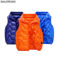 SAILEROAD 5-13Years Adolescent Boys Vests Big Children Waistcoat Casual on The Girl 2019 Autumn Winter Warm Go to School Clothes(China)