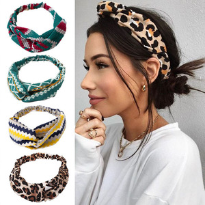 Fashion Floral print Knot Women Headband Vintage Hairband Girls Headwear Leopard Headband Hair Accessories(China)