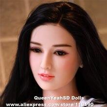 Cabeça de boneca de sexo oral cabeça de boneca de amor de silicone sólido para homem profundidade oral 13cm altura do corpo apto 140,145,153,158,161,163,165,168cm