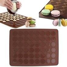 1 pc 48 Macaron Mat Silicone Macaron Mold Baking Pastry Baking Mat Sheet Muffin Tray Reusable Bakeware Kitchen Tools Accessories