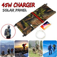 Tragbare Solar Panel 18V 45W Hohe Efficience Wandern solar panel rucksack Faltbare Solar Panel Kit mit externen power(China)