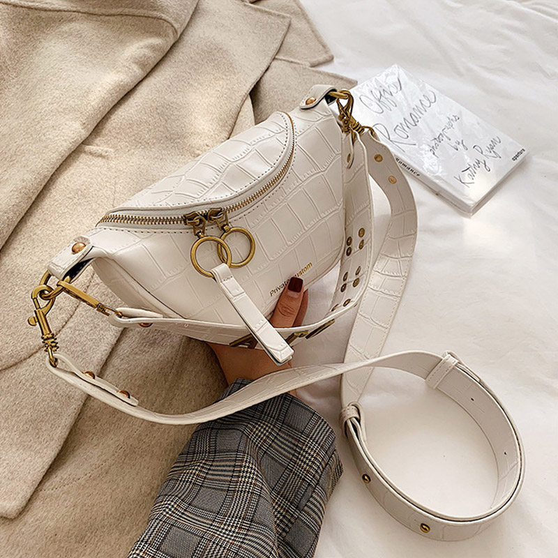 CCRXRQ bolsos de piel de cocodrilo para mujer bolsos de hombro de cuero de PU de alta calidad para mujer bolsos de marca de diseñador bandolera bolso de cadena para el pecho