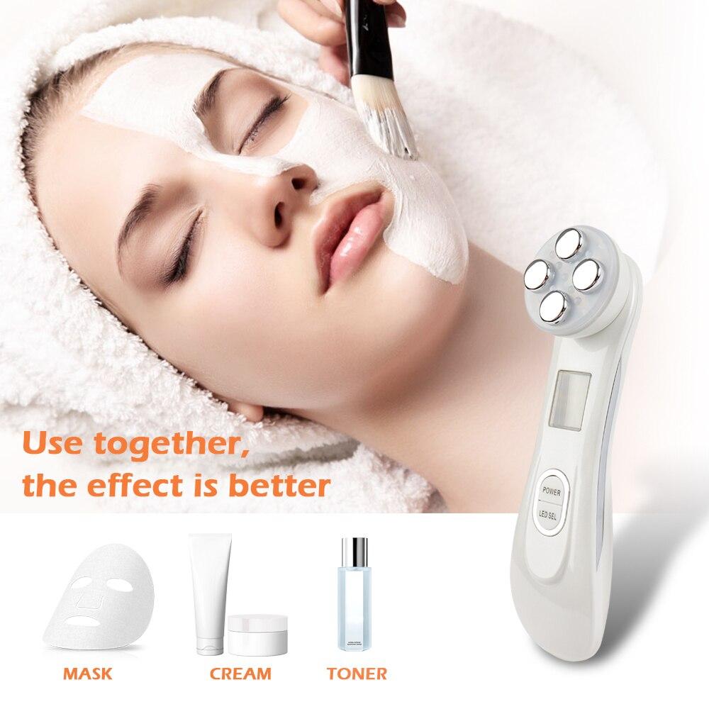 Gesicht Haut EMS Mesotherapie Elektroporation RF Radio Frequenz Gesichts LED Photon Hautpflege Gerät Facelift Zu Straffen Schönheit Maschine