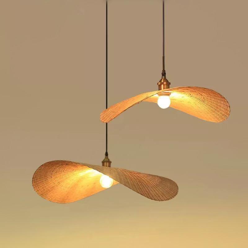 Işıklar ve Aydınlatma'ten Kolye ışıkları'de Yeni çin bambu avize ışıkları japon Tatami çayevi Zen asılı lamba güneydoğu asya oturma odası yatak odası sehpa lambası title=