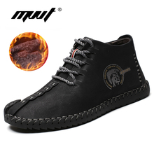 Keep Warm Winter Men Boots High Quality Split Leather Casual Men winter Shoes wi
