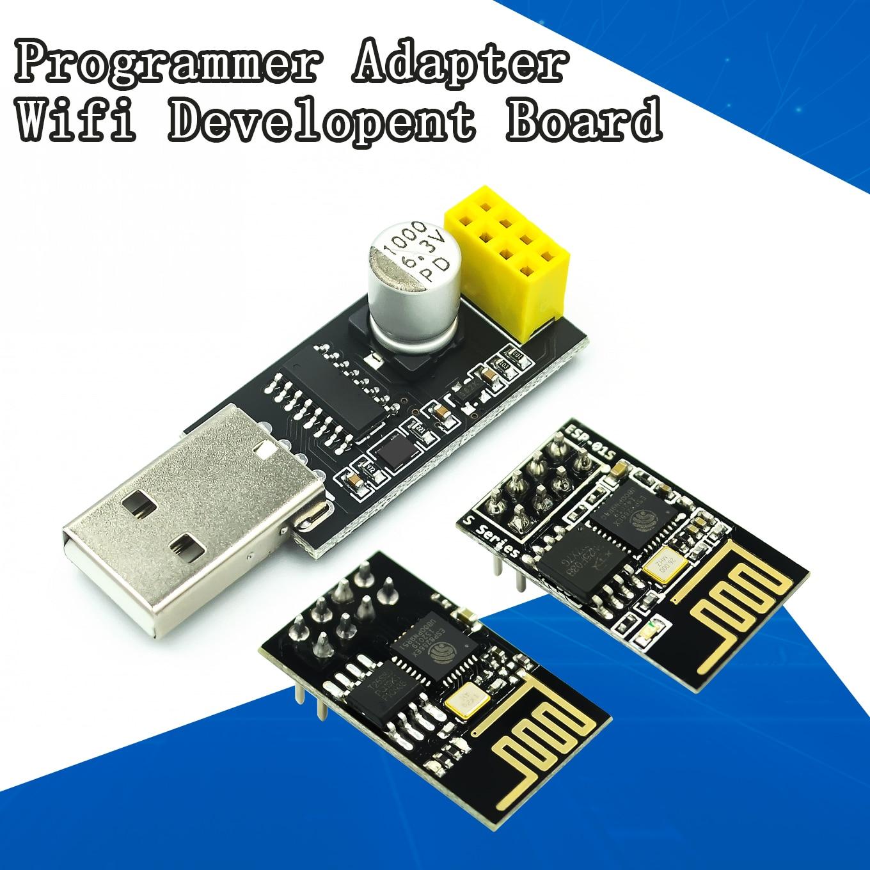 ESP01 программист адаптер UART ESP-01 ESP-01S ESP8266 CH340G USB к ESP8266 серийный Беспроводной Wi-Fi разработка плата Модуль гибкий кабель