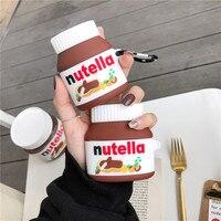 3D carino Dessert cibo bottiglia di salsa al cioccolato auricolare Bluetooth custodia morbida per apple airpods 1 2 pro 3 regalo di ricarica Wireless
