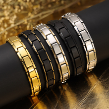 Magnetic Bracelet Hand-Chain Wrist-Band Stainless-Steel Men's for Health-Care