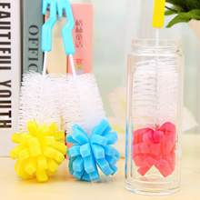 1/3/5Pcs 2018 New And Hot Baby Nipple Milk Bottle Cup 360 Degree Sponge Cleaner + Pacifier Brush(China)