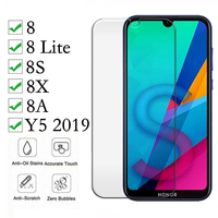 screen film 2Pcs Tempered Glass For Huawei honor 8a 8c 8s 8x Glass Screen Protector On For Huawei y5 2019 honor 8 lite 8 pro Protective Film (2)