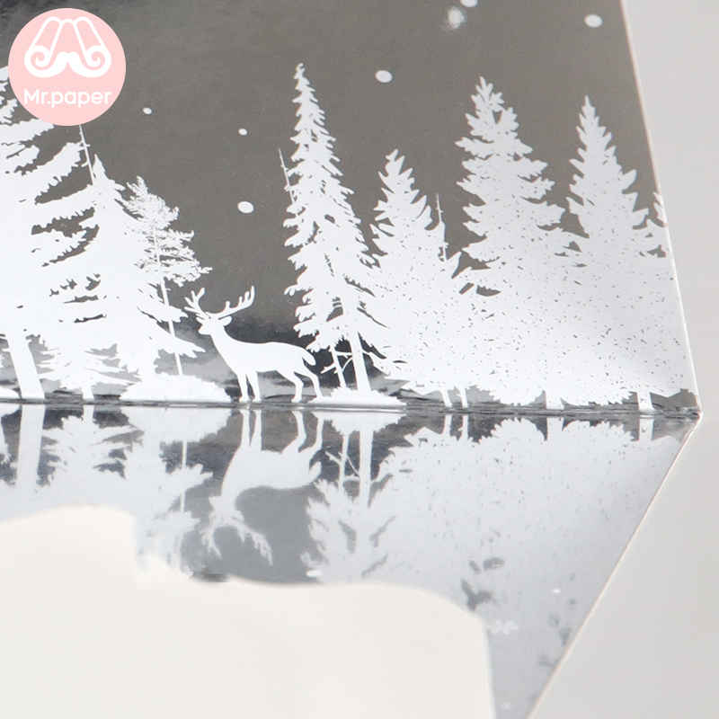Купить с кэшбэком Mr paper 6 Designs Mirror Envelope Greeting Card Delicate Dreamy New Year Card Envelope Dream Mirror Christmas Birthday Gift