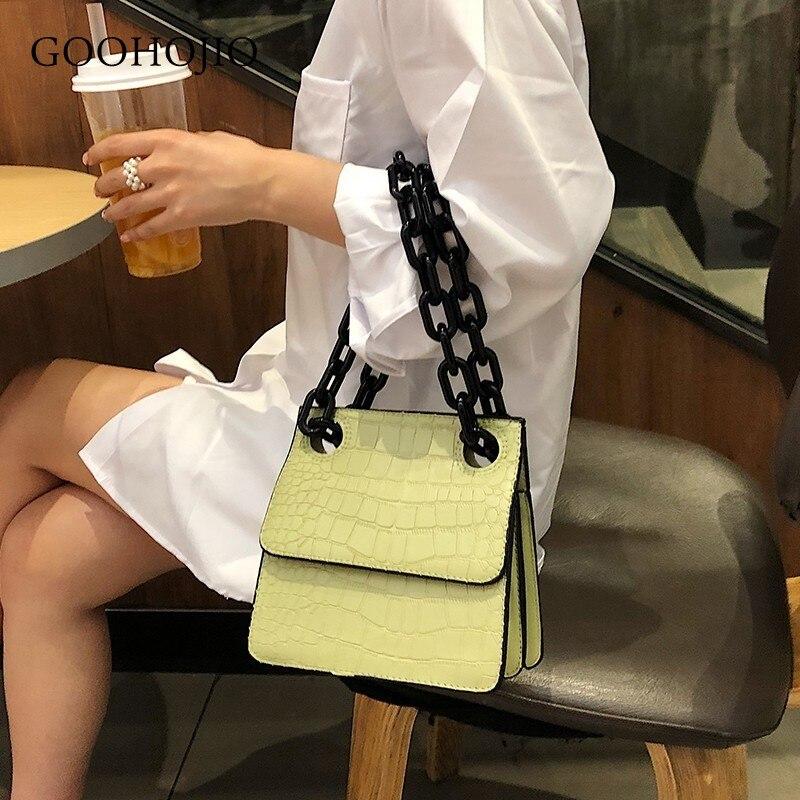 Luxury Handbags Women Bags Designer Candy Color Alligator Bags For Women 2019 Vintage Fashion Square Shoulder Messenger Bag Sac
