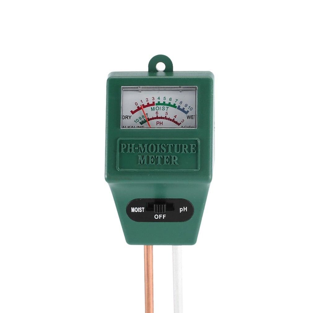2 In 1 Soil Hygrometer Dual-Probe Soil Tester Garden Moisture Soil PH Light Intensity Meter Tester Tool
