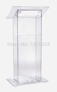 Przezroczysty akrylowy podium tanie piękne przezroczysty meble akrylowe akrylowe podium ambona podium akrylowe podium pleksi w Biurka do recepcji od Meble na