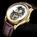 Мужские часы Dragon Tourbillon, Роскошные сапфировые часы, Лидирующий бренд, мужские механические наручные часы из крокодиловой кожи, Копейка 2019