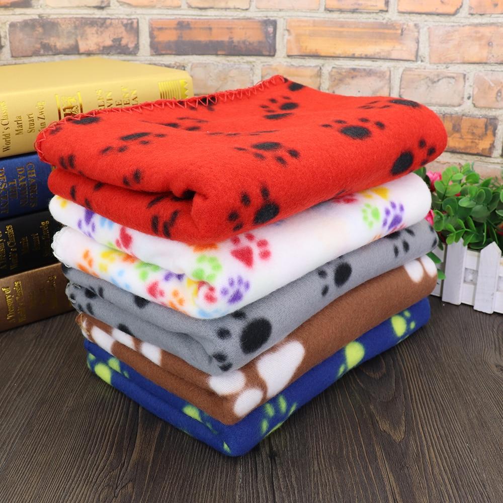 Soft Cute Pet Dog Blanket Winter Warm Cat Dog Bed Mat Print Sleeping Mattress Small Medium Large Dogs Fleece Pet Supplies
