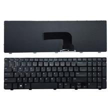 Nouveau clavier américain pour DELL Inspiron 15 3521 15R 5521 noir anglais clavier dordinateur portable avec cadre