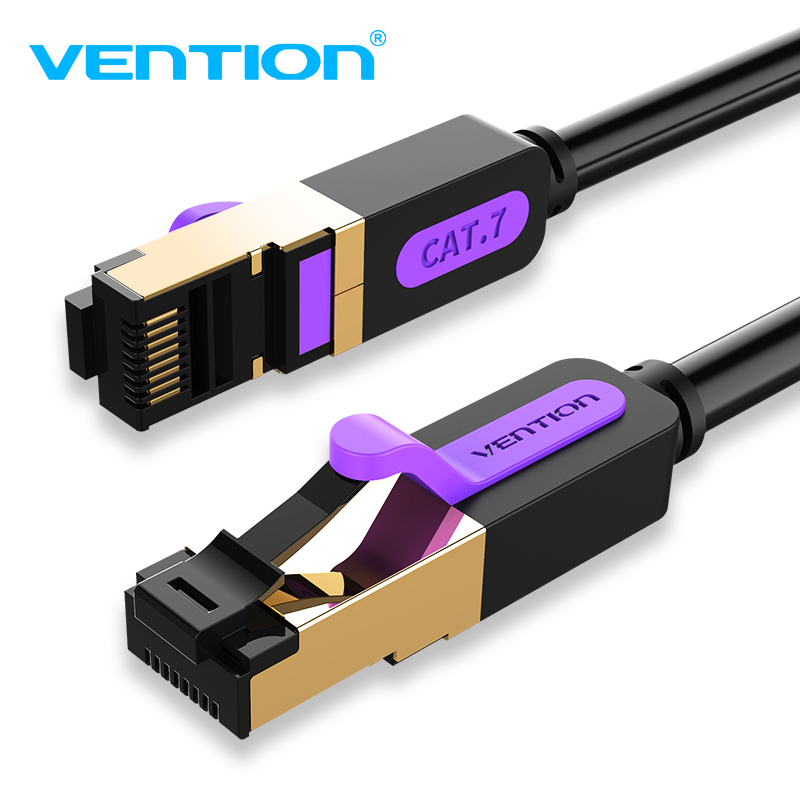 Vention Ethernet Cable Cat7  RJ45 Lan Cable SSTP Network Internet 10m 15m Patch Cord Cable For PC Router Laptop Cable Ethernet