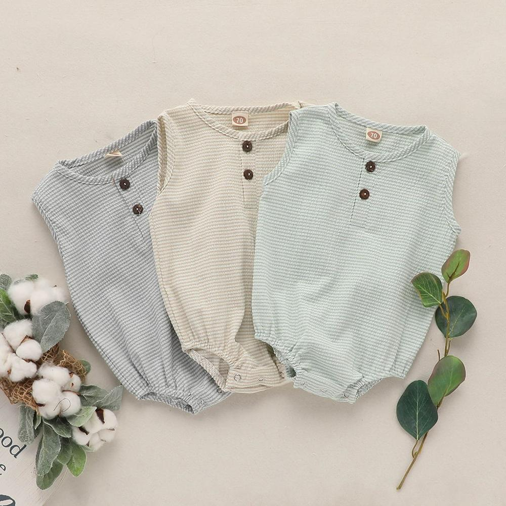 Muslin Tree Sleeveless Summer Infant &toddler Romper Clothes  Baby Jumpsuit  Boys Girls Sunsuit