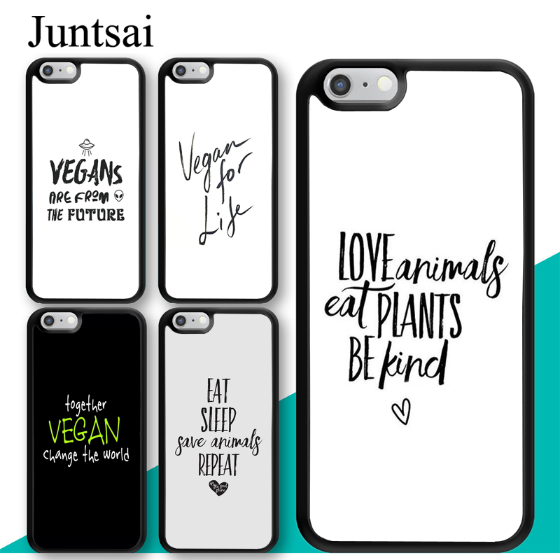 juntsai vegetarian vegan quotes case for iphone pro max xr xs