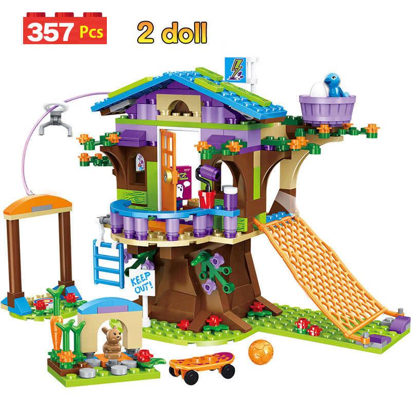 868 قطعة اللبنات بنات بيت الصداقة التراص الطوب متوافق بنات أصدقاء الاطفال لعب للأطفال GB08
