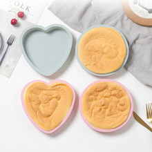 6 Inch Heart Round Cake Mold Silicone Molds DIY Baking Dessert Mousse Kitchen Bakeware Tools Art Cake Form Tray Mould Pan Tool